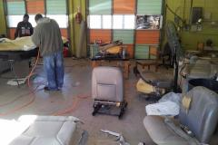 Hard at Work - BizzyB's Upholstery Shop