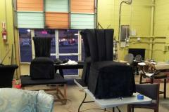 BizzyB's Upholstery, photo working into the night